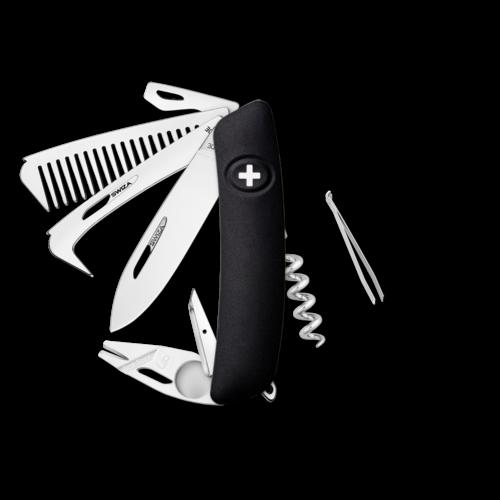 SWIZA Swiss Knife SWIZA HO09R-TT Black - KHO.0170.1010