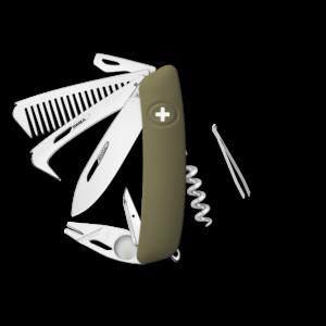 SWIZA Swiss Knife SWIZA HO09R-TT Olive - KHO.0170.1050