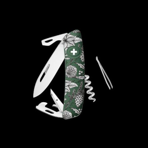 SWIZA Swiss Knife SWIZA D03 XM Drawing Green - KNB.0030.X005